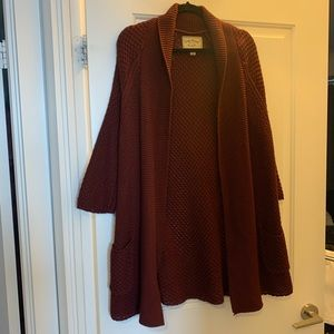 💞 LUCKY BRAND Red Sweater/Cardigan WORN ONCE 🙌🏻
